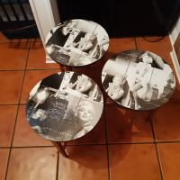 3 small round Marilyn tables