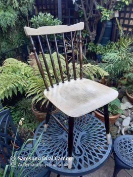 Blonde & Dark wood chair