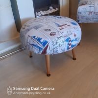 Vintage footstool in Boats & ship material