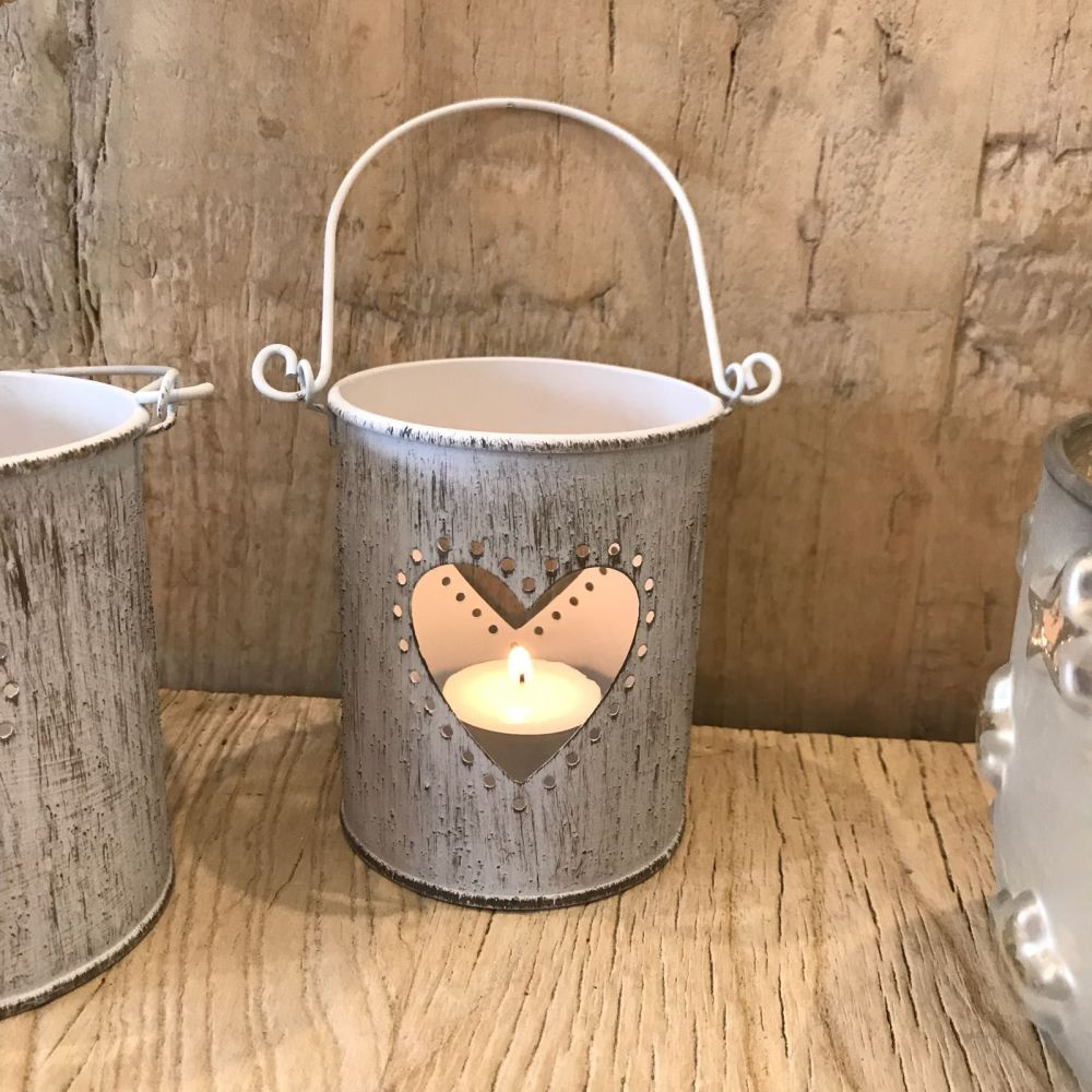 Vintage Style Metal Candle Holder