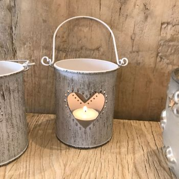 **SALE**  Vintage Style Metal Candle Holder