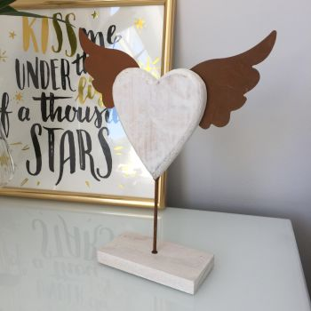 **SALE**  Heart Angel Wing Ornament