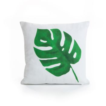 Single Botanical Leaf Cushion