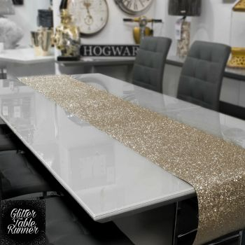 Small Champagne Glitter Table Runner 1.66m