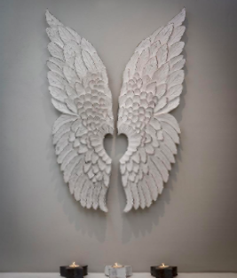 Large White Vintage Angel Wings