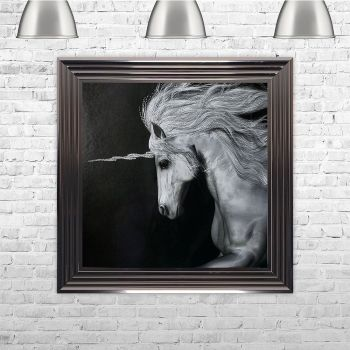 Unicorn Black and White