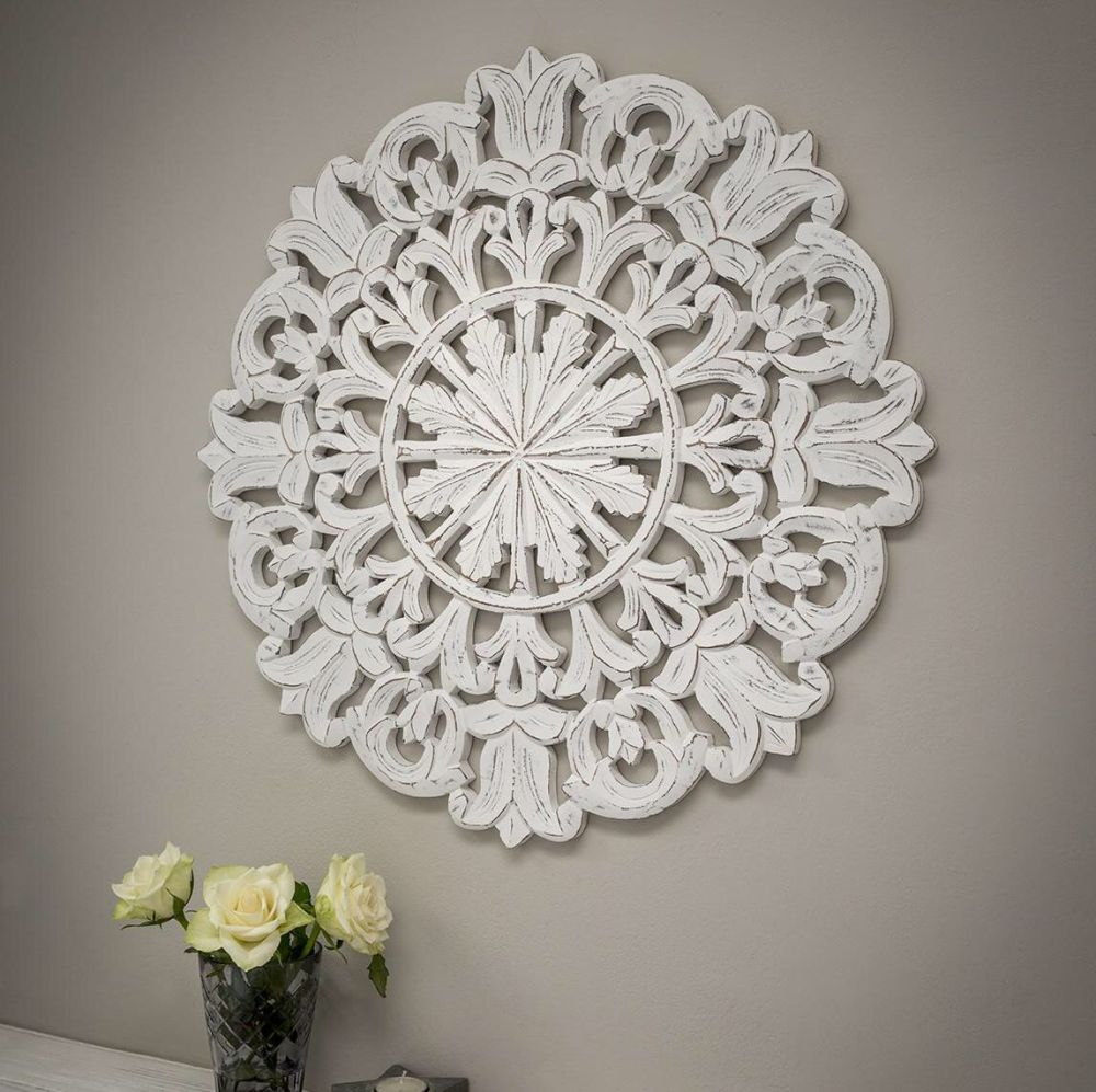 Decorative Round Carved Wall Panel