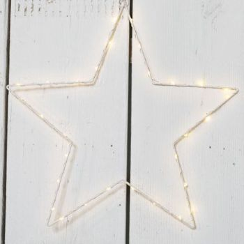 Wire LED Hanging Star