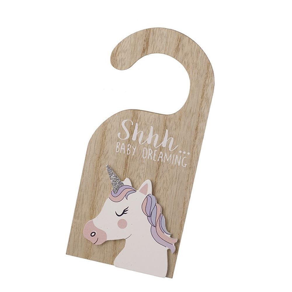 Ssh Baby is Sleeping Unicorn Door Sign