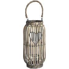 Wicker Heart Lantern