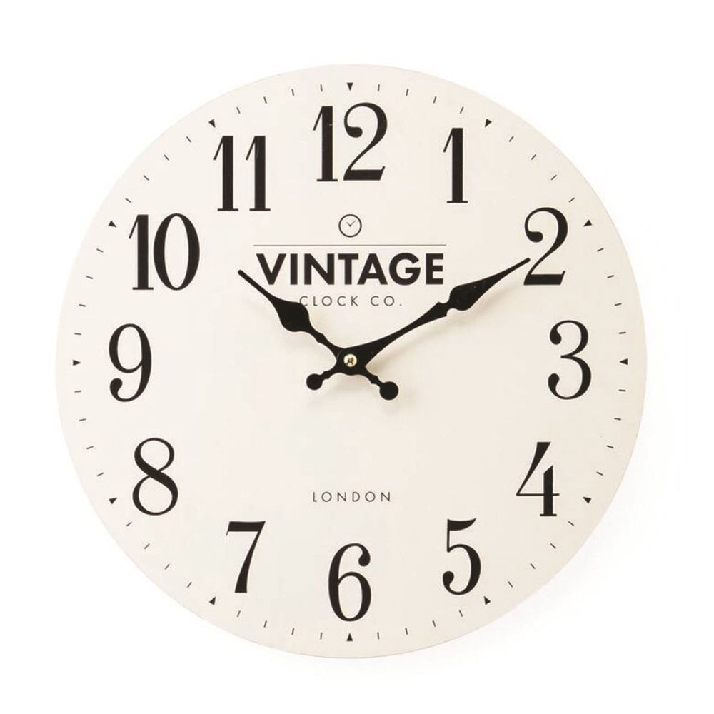 Small Flat Cream Wall Clock