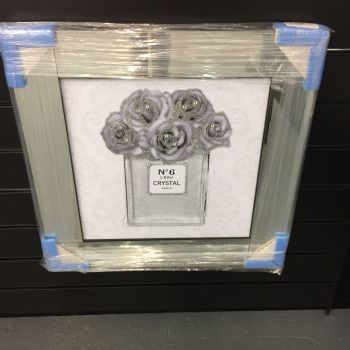 GREY AND SILVER PERFUME AND ROSE DESIGN