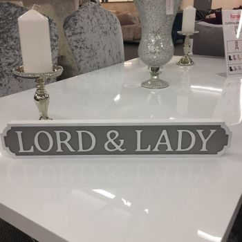 Mini Lord and Lady Vintage Street/Road Sign