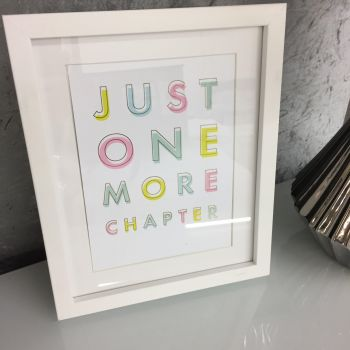 A5 'Just One More Chapter' Pastel and Gold Print