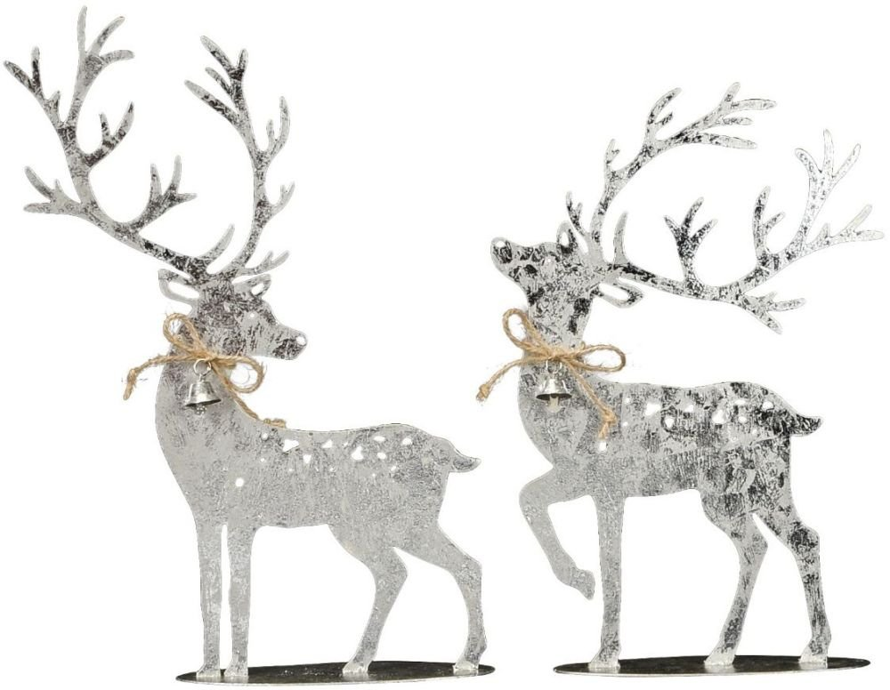 Standing Silver Reindeer (Forward Facing)