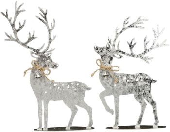 **REDUCED** WAS £8.50 NOW £6.00Standing Silver Reindeer (Forward Facing)