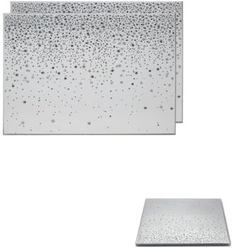 **REDUCED** WAS £10.00 NOW £8.00 Glitter Stars Set of  2 Placemats