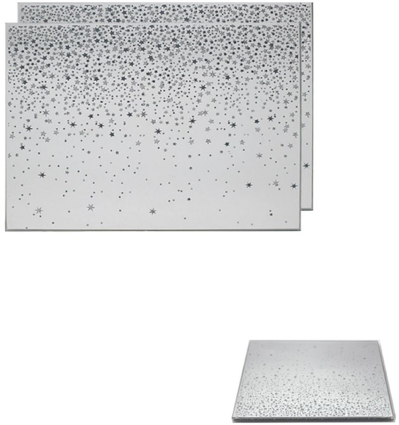 Glitter Stars Set of  2 Placemats
