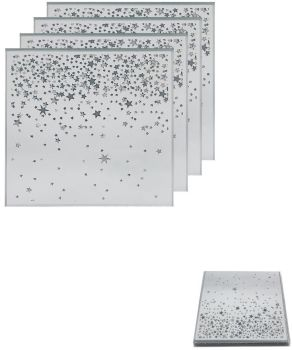 **REDUCED** WAS £5.00 NOW £4.00 Glitter Stars Set of 4 Coasters