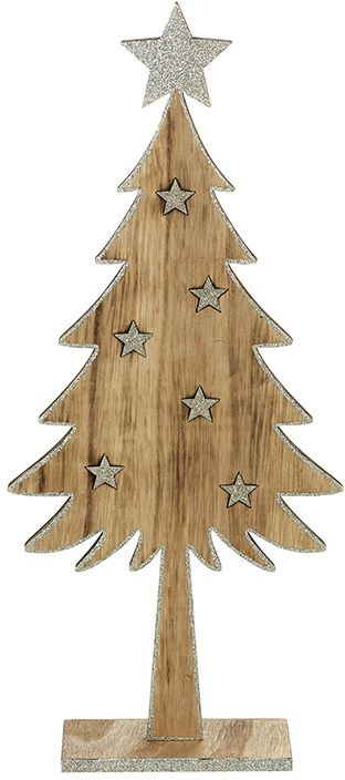 Wooden Glittered Tree