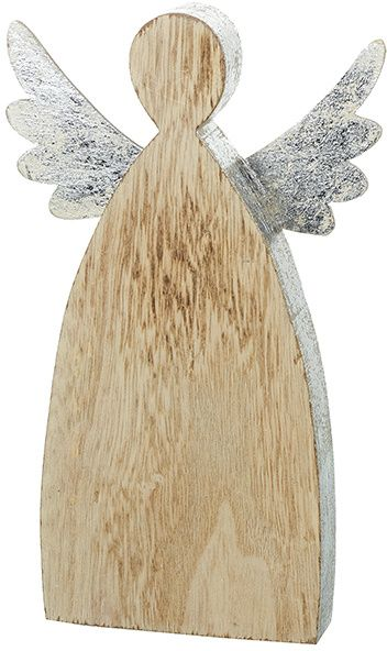 Large Rustic Wooden Angel 23cm
