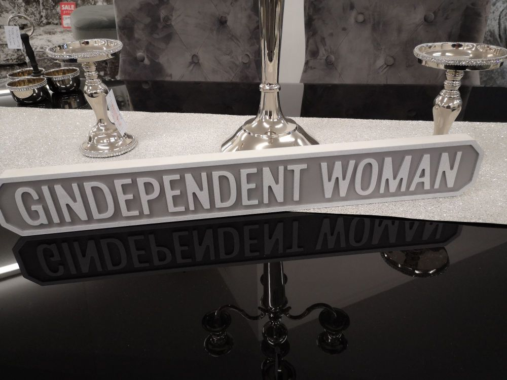 Gindependent Woman Mini street sign