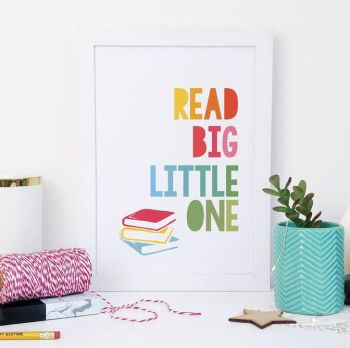 A5 'Read Big Little One' Rainbow Print