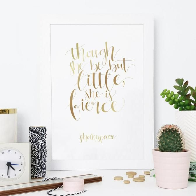 A5 Gold Foil Shakespeare Quote