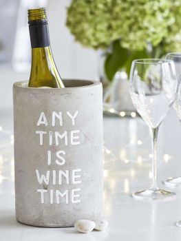 Concrete Bottle Cooler ANY TIME IS WINE TIME