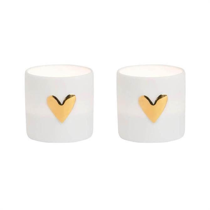Hearts Tea Lights GOLD