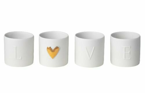 LOVE Tea Light Holders - Set of 4