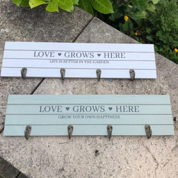 Potting Shed Hook Plaques