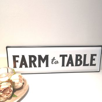 Metal Farm Wall Plaque