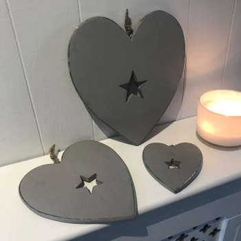 Grey Hearts with Star detail