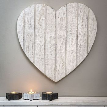 T&G Style WALL HEART WHITE