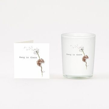HANG IN THERE Mouse Design Boxed Candle and Card Gift 9cl