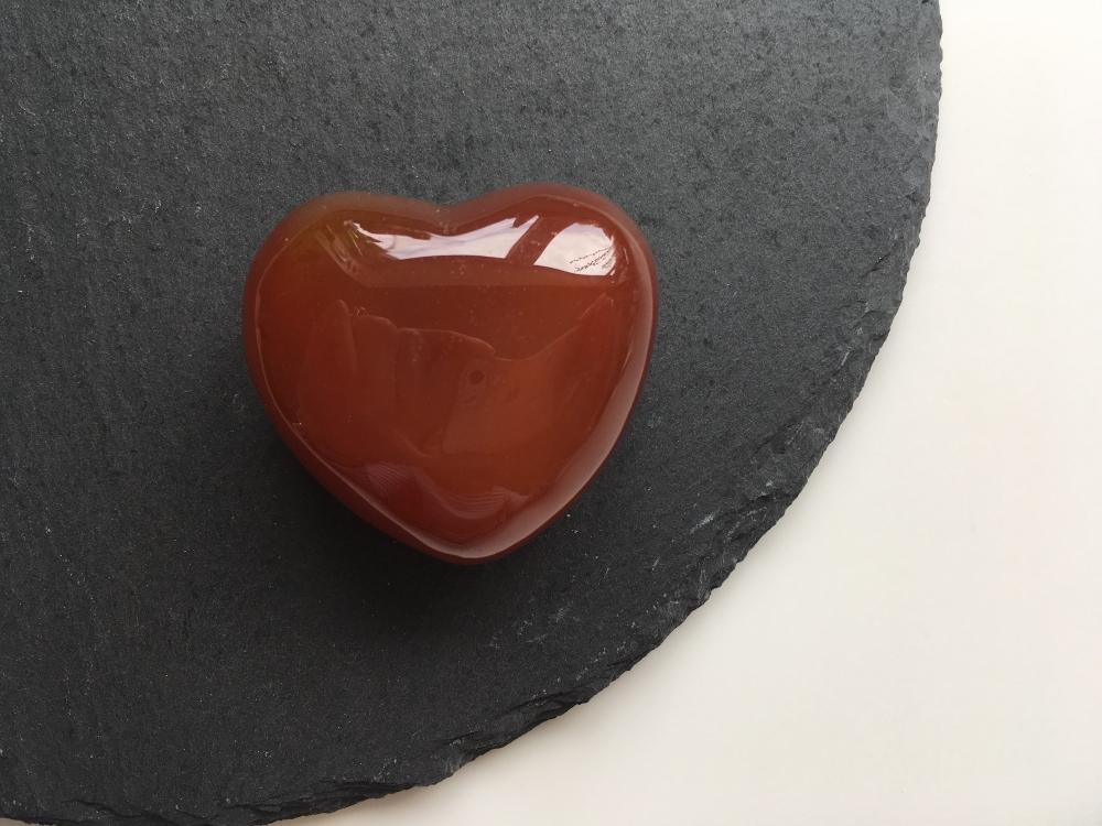 Carnelian heart crystal