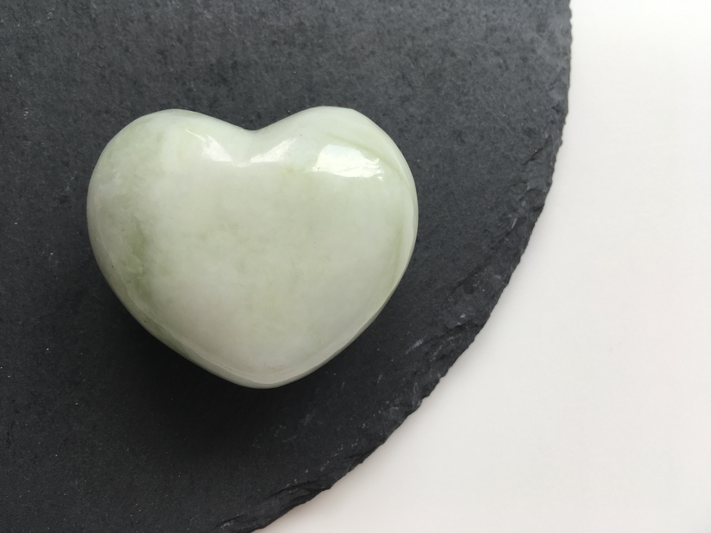 Jade heart crystal
