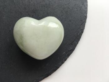 Jade heart crystal