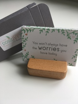 PositIVFity cards and holder