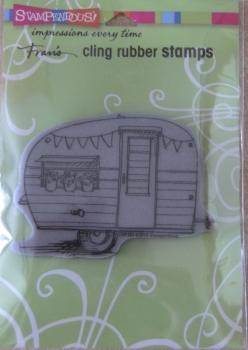 "Stampendous ""Tiny Caravan"" Cling Stamp"