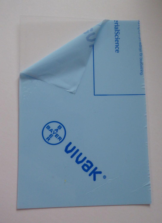 Vivak PETg Polyester transparent Sheet 0.50mm 16CM X 25CM