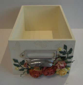 Wooden Index Box in Lemon