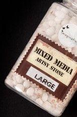 Imagination Mixed Media Artsy Stones Large