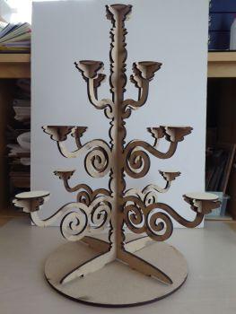 Wooden Laser cut Candelabra/Cake stand Centrepiece