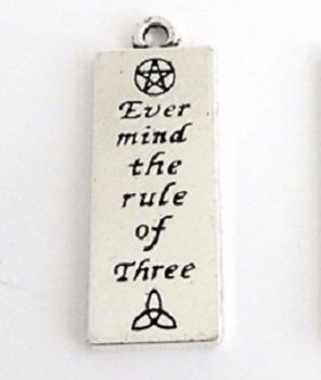 Ever Mind The Rule Of Three Pendant Charm