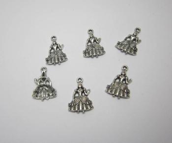 Cinderella charms x 6
