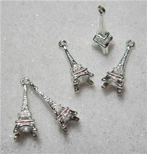 Eiffel Tower charms x 5