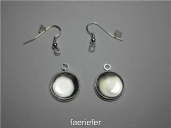 earrings kit settings glass domes earwires and backs