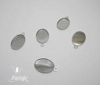 Oval charm setting 13 x 18 mm